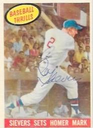 1959 Topps Baseball Thrills